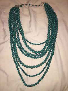 Kelly Green Fashion 7-Layer Necklace