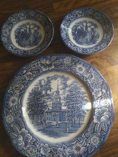 Liberty Blue plate,an Sauser