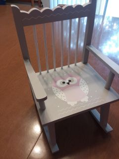"""18"""" doll wooden rocking chair"""