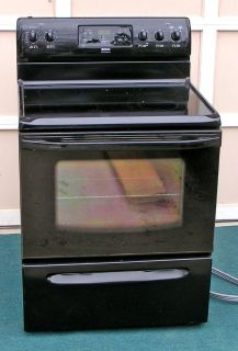 Range Stove Electric-Black glass top Black stove By Frigidaire
