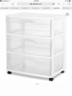 New 3 Drawer Wide Cart With Wheels 3 Available