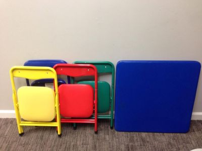 Kids Folding Table & 4 Chairs