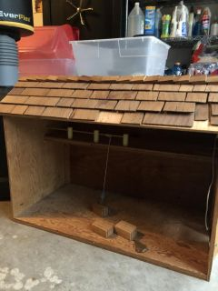 Wooden barn made by hand
