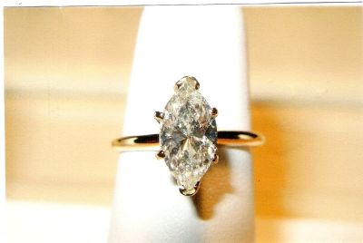 1.62 ct Solitaire Diamond Engagement Ring