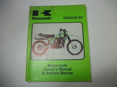 Purchase Kawasaki Service Manual KDX250 1981 KDX250B1 KDX250-B1 OEM Factory motorcycle in Colorado Springs, Colorado, US, for US $24.95