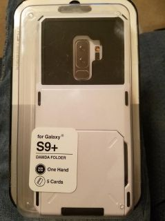 GALAXY S9 PLUS WHITE CASE WITH CARD SLOTS