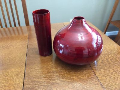 Free. Red bamboo vases.