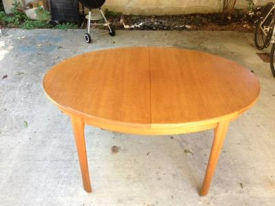 Mid Century Danish Dining Room Table