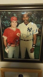 PETE ROSE & DAVE WINFIELD SIGNED PHOTO