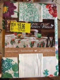 new pioneer woman table cloth
