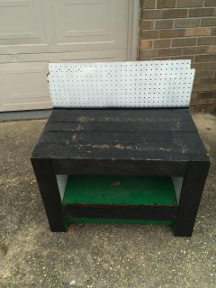 Kids size handmade solid tool bench