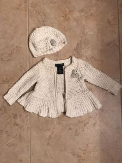 0-3 months sweater/jacket and hat