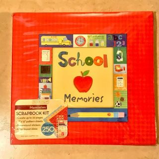 School Memories 12 x 12 Complete Scrapbook Kit New