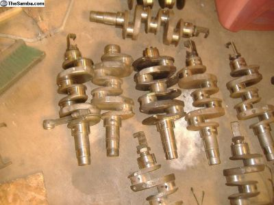 VW Bug TURNED Crankshafts + counterweighted