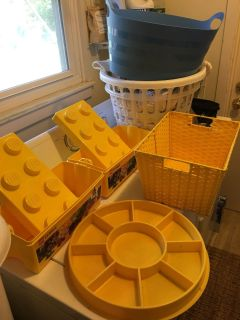 $1 each tub/basket (laundry hampers not for sale)