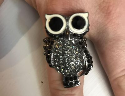 Owl stretchy ring