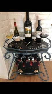 Wine Rack Side Table w/ Chalkboard Table Tops (WINE NOT INCLUDED )