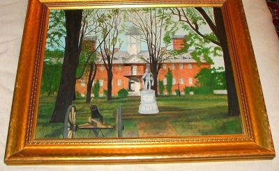 1940's College of William and Mary Oil Canvas Painting!