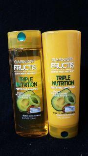Garnier fructis shampoo and conditioner set triple nutrition