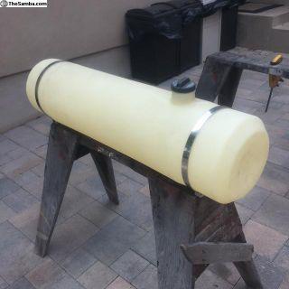 Plastic round fuel tank
