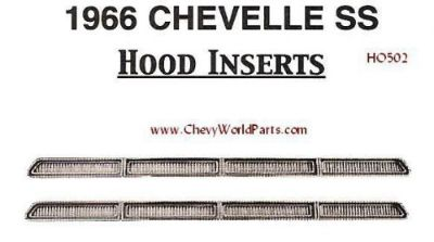 Purchase 1966 CHEVELLE EL CAMINO SS HOOD LOUVER INSERTS motorcycle in Bryant, Alabama, United States, for US $99.95