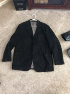 men s black blazer XL