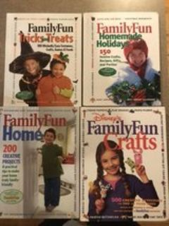Family Fun craft books Hardcover