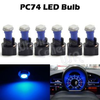 Sell 6x T5 Twist Socket Instrument Panel Cluster Plug Blue Dash Light Bulb 73 308 motorcycle in Cupertino, CA, US, for US $7.99