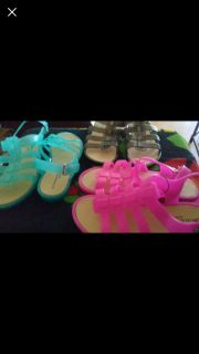 Gladiator Jelly Sandals!Size11 Womens Very Pretty!$15.00Each Pair!!