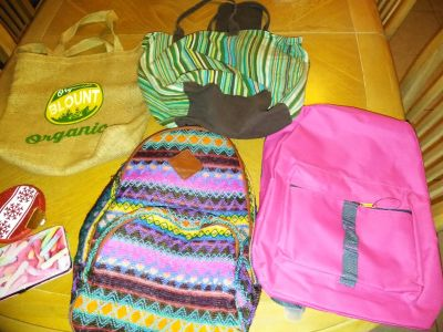 Lot of backpacks bags and 2 pocket wallets