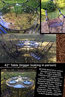 BEAUTIFUL WROUGHT IRON PATIO TABLE SET AVAILABLE !!