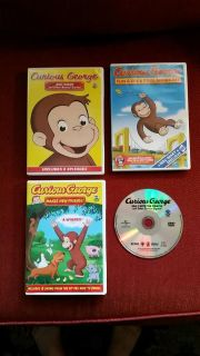 Curious George dvd lot