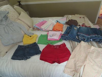 Girls size 5 shorts, skirts, jeans, tops, hoodie, dress