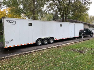 44' x 8.5' x 7' Pace Shadow Trailer