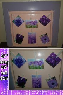Photo collage holder made out of a headboard!