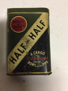 Burley and Bright tobacco tin