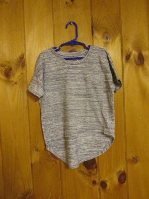 Old Navy S(6/7) gray heather, cotton/poly top