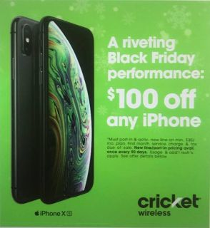 Any iPhone $100 off when you switch to Cricket Wireless