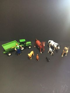 Farm animals and tractor figures