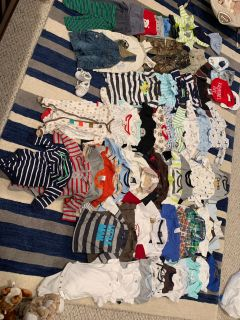 Lot of baby boy clothes sizes 3-9 months