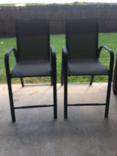 Tall patio chairs