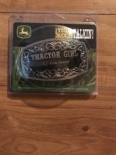 John Deere Tractor Girl Belt Buckle