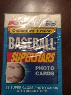 1990 Topps Baseball Superstars Photo Cards