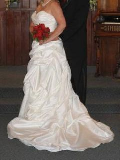 $400 Pearl Colored Strapless Mori Lee by Marilyn Gardener Wedding Dress