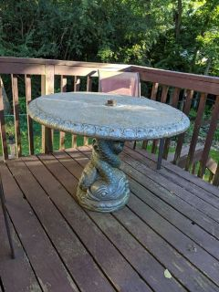 Concrete Patio Table