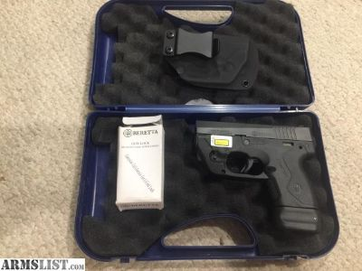 For Sale: Beretta Nano with Lasermax and Kydex IWB