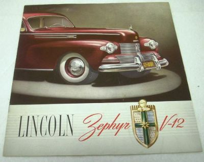 Sell 1942 Lincoln Zephyr V-12 Color Dealer Sales Brochure Original 42 Rare motorcycle in Holts Summit, Missouri, United States, for US $68.49
