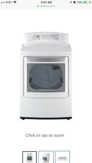 LG - 7.1 Cu. Ft. 8-Cycle Large Capacity Electric Dryer - White