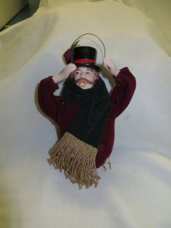VINTAGE CHINA VICTORIAN ENGLISH CAROLER ORNAMENT - 2 AVAILABLE