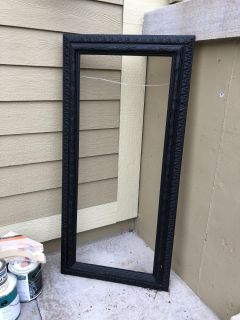 Very large nice custom frame with hanger ready for a project!! Solid! 55 1/2 x 26